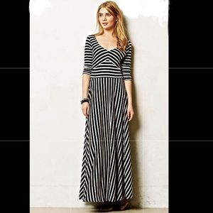 Anthropologie Puella striped Maxi Dress